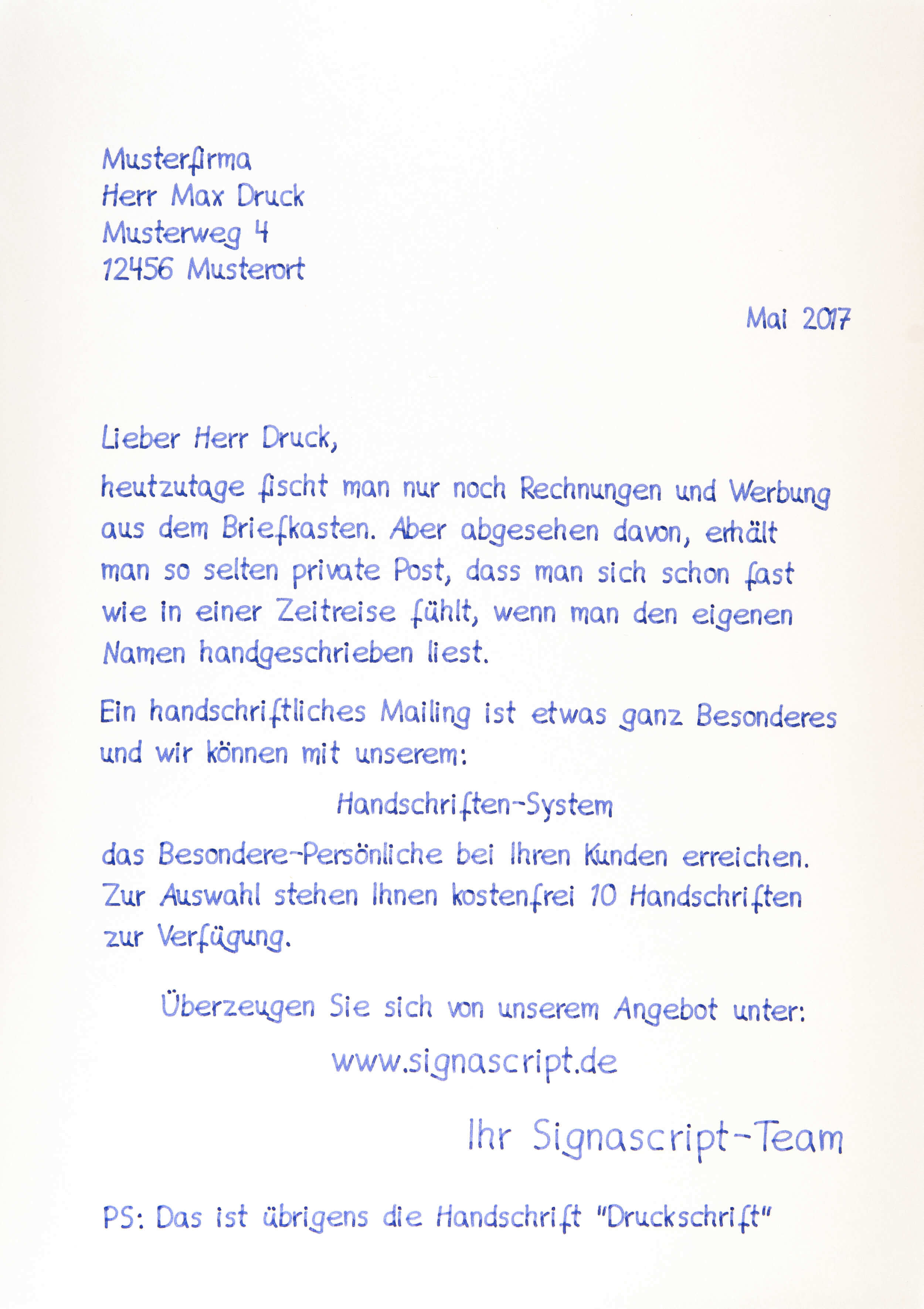 schöne handschrift